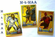 Choose Your TOPPS Marvel Universe HERO ATTAX Foil Cards FREE UK P&P