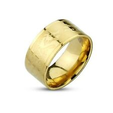 316L Stainless Steel Gold IP Dragons Etched Band Men's Ring Fr sz9 ~ Sz13