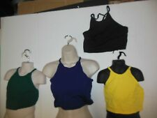 NWT Cotton Spandex Dance  Crisscross Halter Camisole top Lots of Fun Colors ch/A