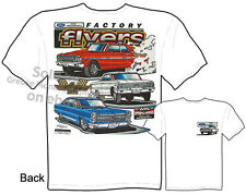 Ford Racing Muscle Car T shirts Thunderbolt Galaxie 500 GT Tee Sz M L XL 2XL 3XL
