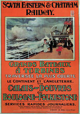 TW31 Vintage Calais Dover South Eastern Railway Travel Poster Re-print A3