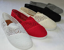 Brand New Women's Classic Crochet Slip On Flat Shoes Free Shipping USA Seller