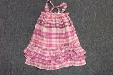 Girls Baby Gap Pink Purple Plaid Sundress**NWT*$39*Toddler Tiered Dress 12 18 3T