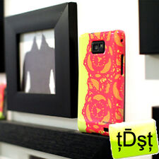 Authentic [Happymori] Pink Lace Hard Case Cover For Samsung Galaxy S2 Case IN012