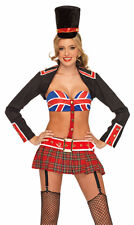 Adult Women's 4 Piece QUEEN'S GUARD BEEFEATER Costume! Sizes XS to ML