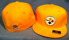 PITTSBURGH STEELERS TEAM SECONDARY COLOR FLAT BRIM FITTED NFL CAP BY REEBOK