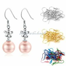 New Fashion Golden and Silver Plated Coil Wire Metal Hooks Finding For Earring