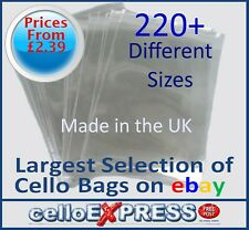 Clear Cellophane Card Bags - Cello Display Bag for Cards - Free UK Post!!