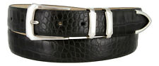 "Vins - Genuine Leather Italian Calfskin Designer Dress Belt, 1-1/8"" Wide"