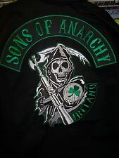 SONS OF ANARCHY IRELAND BEAUTIFUL EMBROIDERED QUILT LINED ZIP UP JACKET NEW !
