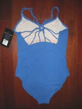 NWT Ladies Oring Strappyback dance leotard Iris Blue Adult Ballet Adult Szs