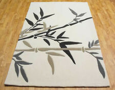 SMALL MEDIUM LARGE EXTRA LARGE THICK MODERN BAMBOO NATURAL ACRYLIC DESIGNER RUG