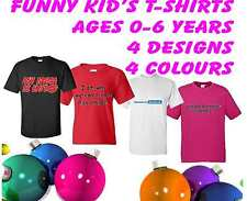 KIDS CHILDS TODDLERS FUNNY T-SHIRTS VARIOUS COLOURS SIZES  FREE UK POSTAGE
