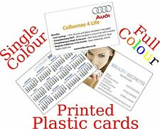 PRINTED PLASTIC CARDS BUSINESS ID MEMBERSHIP LOYALTY DISCOUNT FREE UK POSTAGE