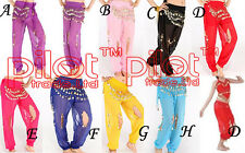 8 colors chose Hand made New shinning Belly Dance Costume trousers metal coins