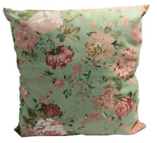 AF98a Pink Red Wild Flower Cotton Canvas Cushion Cover/Pillow Case *Custom Size*