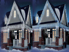 CHRISTMAS 480/720/960 ICICLE SNOWING LED BRIGHT XMAS LIGHTS PARTY INDOOR OUTDOOR