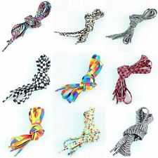 Dots Leopard Rainbow Pattern Flat Sneakers Shoe Laces Shoelace Bootlaces Strings