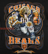 Bears Running Back T-Shirt Black NFL Chicago Football New BABA