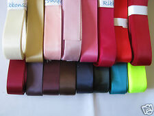 22mm DOUBLE FACED SATIN RIBBON   5m  or 10m  various colours