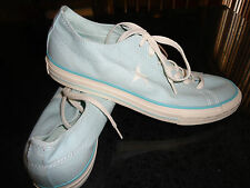 CONVERSE One Star Ladies Womens Lace Up Athletic Sneakers Shoes Aqua Blue New