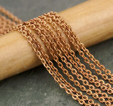 Plated Brass Knurled Link Cable Chain 2.5mm c220(4ft)