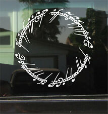 LORD OF THE RINGS - RING OF POWER INSCRIPTION - DIE CUT DECAL/STICKER