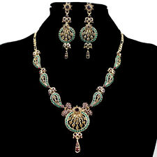 Stylish Jewellery Set Crystal Bridal Bridesmaid Earrings & Necklace new 9Colors