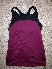 Motionwear Black Maroon Dance Jazz Yoga 3601 Racer Back Top Shirt Adult XS Small