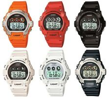 Casio illuminator Digital Alarm Chronograph Colourful Resin Strap Sports Watches