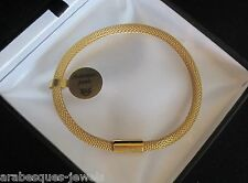 GENUINE ARABESQUES CHARMS 9ct GOLD PLATED BRACELET MAGNEITC PURE MESH ATTRACTION