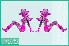 PINK CAMO COUNTRY MUD FLAP GIRLS Cut Vinyl Decals Mudflap Stickers CUSTOM SIZES!