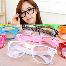 Fashion Retro Vintage Clear Lens Frame Trendy Cool Nerd Geek Glasses