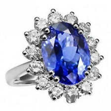 Amazing Sapphire - Royal Blue Crystal Silver Tone Ring all sizes M, O, Q FR54