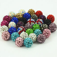 10x10mm Premium Quality Clay Crystal Disco Ball Beads Make Bracelects