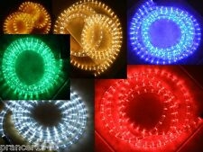 50 Feet Chasing 110V LED Rope Lights red blue green cool white warm white yellow