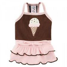 NEW Ruff Ruff Couture Pink Brown Gelato Dog Dress - Several sizes available