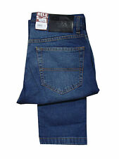 MENS RELCO LONDON SLIM FIT STRETCH JEAN - BLUE USED LOOK
