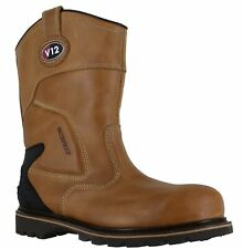 V12 BEST Mens STEEL TOE WATERPROOF SAFETY RIGGERS WORK BOOTS size 8 9 10 11 12