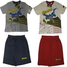Boys Batman Shortie Cotton Pyjamas Ages 2-7 Years Short Brave Bold Gift