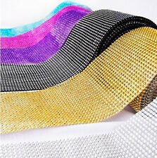 "4.75""x10 Yards DIAMOND MESH WRAP ROLL SPARKLE RHINESTONE Crystal Ribbon"