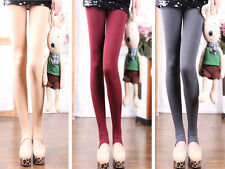 SEXY Women Winter Thick Warm Pantyhose Footless Stirrup Tights Stocking