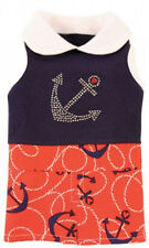 NEW Ruff Ruff Couture Hampton Nautical Red Navy Dog Dress - Several sizes