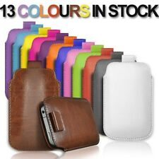 NEW PULL UP TAB POUCH COVER PU LEATHER CASE FOR VIRGIN MEDIA VM720 MOBILE PHONE