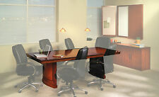 Mayline Sorrento Rectangular Conference Room Tables, Bourbon Cherry, Choose Size