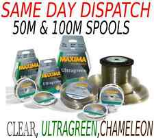 Maxima fishing line clear, green, chameleon 50m and 100m all sizes