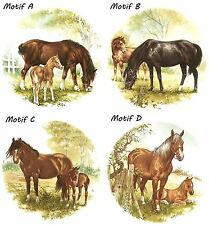 Horse Horses Pony Ponies Meadow Select-A-Size Waterslide Ceramic Decals Bx