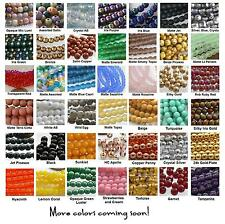 4mm Round Druk Czech Glass Beads 50 Choose Color