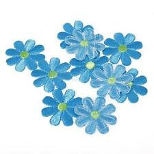 10pcs Embroidered Applique Flowers Patch Iron on / Sew DIY Craft Clothes Decor