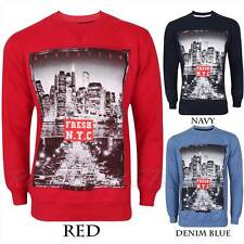 MENS BRANDED BOYS BIG CITIES DESIGNER JUMPER SWEATSHIRT TOP TOKYO LONDON NYC LA